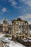forum zabytki Saturn inna rzymska świątynia Obraz Royalty Free