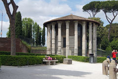 ForumBoarium-tempel av Hercules Victor Arkivfoto