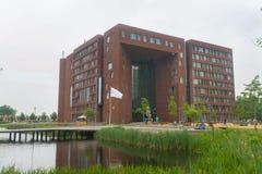 Forumbyggnad på det Wageningen universitetet Royaltyfria Bilder