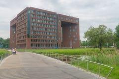 Forumbyggnad på det Wageningen universitetet Royaltyfria Foton