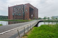 Forumbyggnad på det Wageningen universitetet Royaltyfri Foto