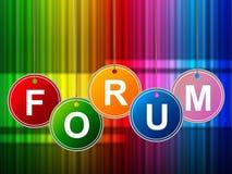 Forumforum betyder socialt massmedia och platsen vektor illustrationer