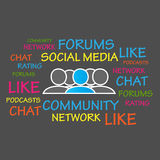 Forums, Community, Social Media. Abstract Background Stock Photo