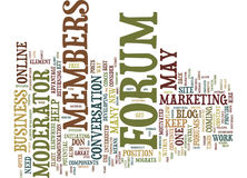 Forums The Establishment Cause Word Cloud Concept Royalty Free Stock Image