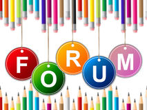 Forums Forum Represents Social Media And Chat. Forum Forums Showing Social Media And Website Royalty Free Stock Photos
