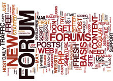 Forums A One Way Ticket To Easy Free Traffic Text Background  Word Cloud Concept. FORUMS A ONE WAY TICKET TO EASY FREE TRAFFIC Text Background Word Cloud Concept Royalty Free Stock Images