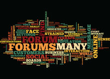 Forums Psychological Benefits Text Background  Word Cloud Concept Royalty Free Stock Image