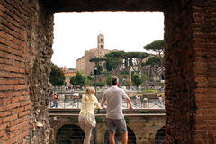 Forums of Rome - Italy Stock Photography