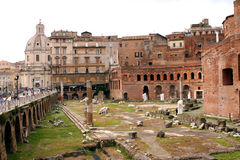 Forums of Rome - Italy Stock Photo