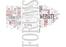Forums Should You Have Them On Your Website Word Cloud Concept Royalty Free Stock Photo