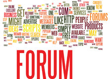 Forums Why You Might Want One And How To Get One Text Background  Word Cloud Concept Royalty Free Stock Photos