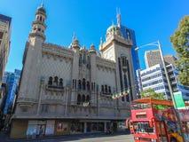 Forumtheater auf Flindersstraße in Melbourne CBD Stockbild