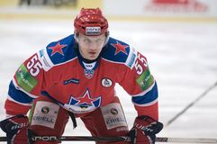 Forward Alexey Badyukov Stock Images