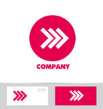 Forward arrow concept pink logo icon Royalty Free Stock Photography