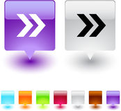Forward arrow square button. royalty free stock photography