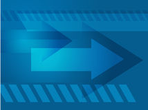 Forward arrows Royalty Free Stock Image