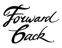 Forward Back. Colorful inscription of words Forward and Back Stock Photos