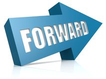 Forward blue arrow Stock Image