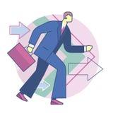 Forward business development. Forward movement, business concept Royalty Free Stock Photos