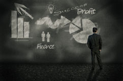 Forward business planning Royalty Free Stock Images