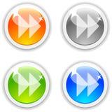 Forward buttons. Stock Photos