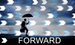 Forward Change Ahead Development Concept Royalty Free Stock Image