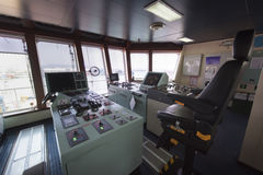 Forward console in Ship tanker. Royalty Free Stock Images