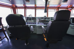 Forward console in Ship tanker. Stock Images
