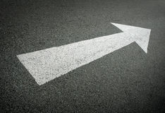 Forward direction on road Stock Images