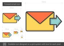 Forward email line icon. Stock Photos