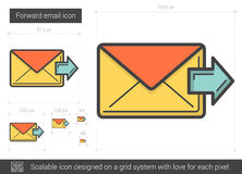 Forward email line icon. Royalty Free Stock Photo