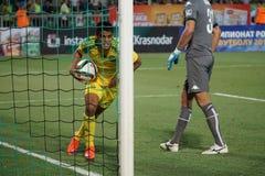 Forward fc kuban Lorenzo Melgarejo just scored a goal by Andrei Dikan Royalty Free Stock Photo