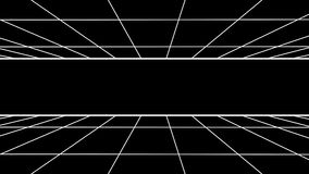FORWARD flight seamless grid net polygonal wireframe abstract retro tunnel slow motion loop drawing motion graphics. Grid net abstract drawing polygonal soft stock video