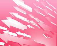 Forward flying arrows Royalty Free Stock Photography