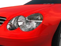 Forward Headlight. Three-dimensional model of a forward headlight of the car Royalty Free Stock Photo