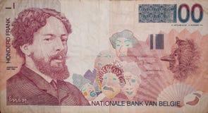 Forward hundred francs banknote Royalty Free Stock Image