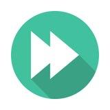 Forward icon. Forward vector Glyphs Shadow Icon royalty free illustration
