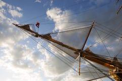 Forward mast of the sailing ship Royalty Free Stock Photos