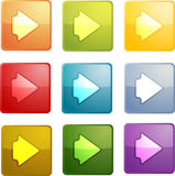 Forward navigation icon Royalty Free Stock Images