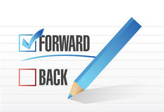 Forward over back. checkmark illustration Royalty Free Stock Photos