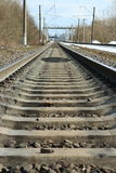 Forward rails of railway. Go into distance Stock Photography