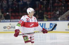 Forward of Spartak Bodrov Denis Stock Photo