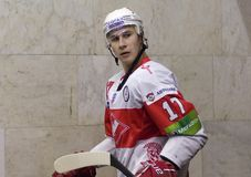 Forward of Spartak Voronin Artem Royalty Free Stock Photo