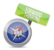 Forward Thinking compass Royalty Free Stock Images