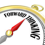 Forward Thinking Gold Compass Leads with Vision Planning Royalty Free Stock Photos