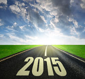 Forward to the New Year 2015 Stock Photography