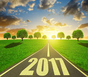 Forward to the New Year 2017 Stock Image
