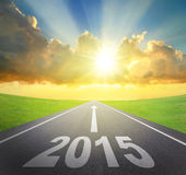 Forward to 2015 new year concept Royalty Free Stock Photo