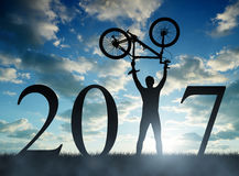 Forward to the New Year 2017 Royalty Free Stock Photo