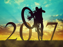 Forward to the New Year 2017 Royalty Free Stock Photography